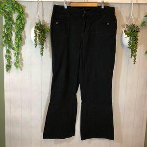 Gitano Black Flare Jeans 12